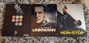 Set Of 3 Liam Neeson Bluray Steelbooks Unknown Non-stop Commuter