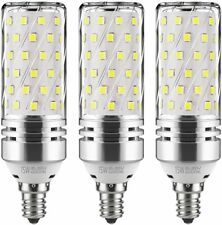 E12 LED Corn Bulbs,12W LED Candelabra Light Bulbs Daylight White 6000K (3-Pack)