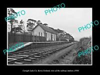 OLD LARGE HISTORIC PHOTO OF CARAGH LAKE KERRY IRELAND, THE RAILWAY STATION c1950