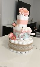 Diper Cake (girl Baby Shower)