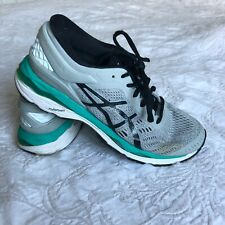 Asics Womens Size 8.5 Gel-Kayano 24 Gray/Black/Atlantis Running Shoes T799N