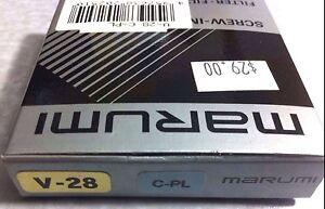 28mm CIRCULAR POLARIZER CIR PL Lens Glass FILTER CPL 28 mm Japan Marumi C-PL