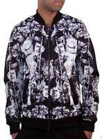 Rocawear Mens Myth Bomber Jacket Varsity College Hip Hop Money Is Time Club R031