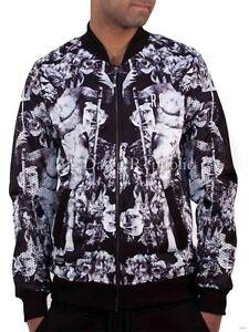 Rocawear Men's Designer Bomber Baseball Jacket, New Hip Hop Era Is Time Money