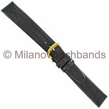 16mm Condor Croco Grain Unstitched Flat Gray Mens Watch Band