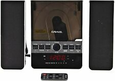 Craig Slim Compact Shelf Stereo System Cd Player Am/Fm Dual Alarm Aux-In Remote