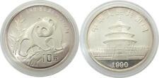 China,  10 Yuan 1990 Panda  1 oz  Feinsilber  in Ausgabekapsel