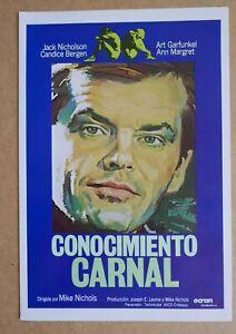 CARNAL KNOWLEDGE JACK NICHOLSON superb 1982 4-page press book ART GARFUNKEL