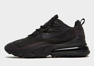 🔥 Nike Air Max 270 React , Men's Trainer (UK 11/EUR 46/US 12) Black Brand New