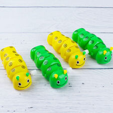 Plastic Caterpillar Shape Wind Up Clockwork Toy Kids Toy Random Color