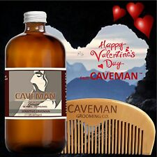 Hand Crafted Caveman® Beard Oil beard conditioner FREE Wooden Beard Comb Caveman