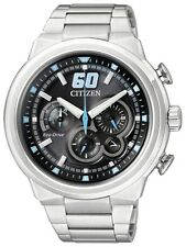 Citizen Eco-Drive Mens Stainless Steel Sports Chronograph CA4130-56E