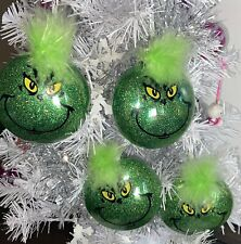 Set Of 4 Grinch Christmas Ornaments .. FREE SHIPPING! GREAT TEACHER GIFTS!