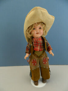 """UFDC 075 -2021 Composition Shirley Temple Cowboy outfit 11"""""""