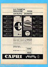 QUATTROR961-PUBBLICITA'/ADVERTISING-1961- CAPRI CAMICIE - VALLESUSA