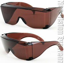 Extra Large Will Fit Over Most Rx Safety Glasses Sun HD Blue Block Amber 293 DR