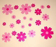 Nursery Baby Childrens Kids Girls Pink Flower Wall Furniture Stickers Decals