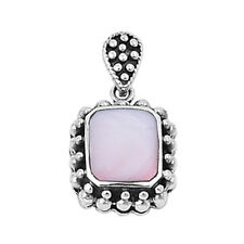 Mother of Pearl Pendant Sterling Silver 925 Vintage Style Jewelry Gift 22 mm