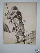 Weisbuch Claude (1927)     GRAVURE ORIGINALE N/S          VIOLON SOLO