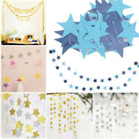 4M Star Paper Garland Bunting Home Wedding Birthday Party Banner Hanging Xmas