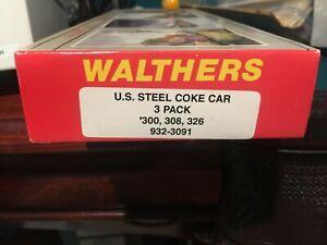 WALTHERS 932-3091 U.S. STEEL COKE CAR KIT 3-PACK # 300, 308, 326 NEW & SEALED