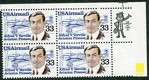 AIRMAIL - ALFRED V. VERVILLE - 1985 Scott #C113 U.S. 33c Excellent MNH-OG (667b)