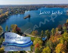 Michigan - Waterford Twp - Loon Lake - Travel Souvenir Flexible Fridge Magnet