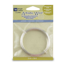 Artistic Wire, 16 Gauge (1.3 mm), Tarnish Resistant Silver, 10 ft (3.1 m)