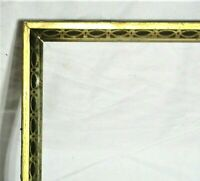 "BIG ANTIQUE Fits 22"" X 28"" LEMON GOLD GILT STENCILED FRAME FINE ART VICTORIAN"