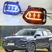 2X LED DRL Daytime Running Light Fog Driving Lamps for Hyundai IX35/Tucson 2018