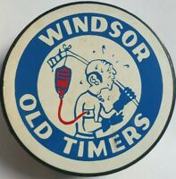 VINTAGE OHL WINDSOR OLD TIMERS VICEROY MFG. OFFICIAL HOCKEY PUCK CANADA