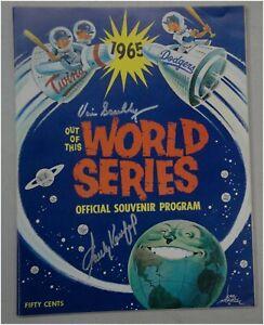 Sandy Koufax Vin Scully Signed Auto Original 1965 World Series Program JSA + OA