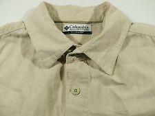 KS253 COLUMBIA linen & cotton blend travel shirt size L(?), excellent condition!