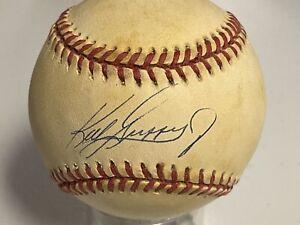 Ken Griffey Jr Signed Baseball Rawlings American League Autograph Beckett COA