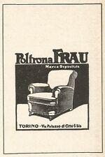 Z2457 Poltrona FRAU - Torino - Pubblicità del 1929 - Vintage advertising