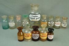 schönes Konvolut 14x antike Apothekerflasche