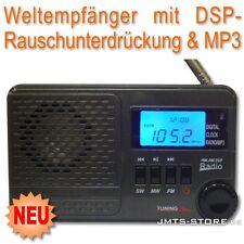 Akku Weltempfänger Radio DSP-Rauschunterdrückung MP3  Player Wecker Radiowecker