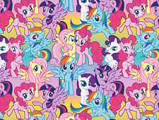 8 YARD BOLT  MY LITTLE PONY  PACKED PONIES COTTON FABRIC SPRINGS CREATIVE HASBRO