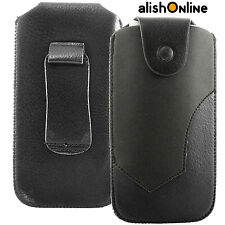 Universal Leather Belt Pouch Case Cover Holster Pull up Strap for Mobile Phone