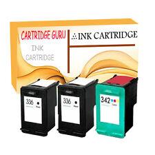2 Black & Colour Ink for HP 336 342 Photosmart C3170 C3173 C3175 C3180