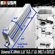 "Universal Intercooler 26X7X2.75/"" 2.25/"" I//O Accord H22 23 F22 23 Civic Si Delsol"