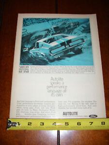 1967 SHELBY GT350 AUTOLITE - ORIGINAL AD