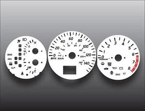 Fits 2002-2004 Nissan Altima Auto ABS Dash Instrument Cluster White Face Gauges