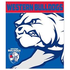 Western Bulldogs AFL Footy Polar Fleece Throw Rug Blanket 150cm X 130cm