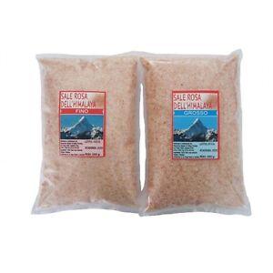 SALE ROSA HIMALAYA - non raffinato no agglomeranti - 5 kg (3 FINO + 2 GROSSO)