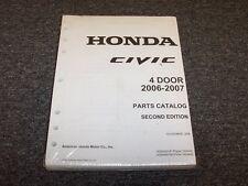 2006-2007 Honda Civic Sedan Factory Parts Catalog Manual Si LX EX DX 1.8L 2.0L