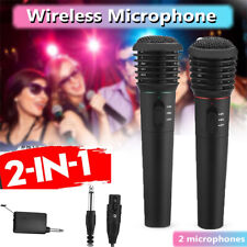 More details for wireless pro dual mic/microphone professional karaoke, dj party, mic singing
