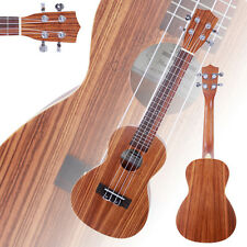 "New 23"" Zebra Wood 18 Frets Aoustic Concert Ukulele 4 Strings Hawaiian Guit"