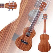 "New 23"" Zebra Wood 18 Frets Aoustic Concert Ukulele 4 Strings Hawaiian Guitar"