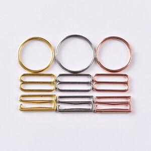 300X Bra Strap Adjustment Buckles Underwear Sliders O-Rings Clips Lingerie DIY